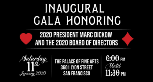 Inaugural Gala Honoring 2020 President Marc Dickow and the 2020 Board of Directors